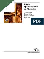 Guide Spec Plumbing