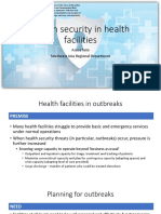 Health Security in Health Facilities