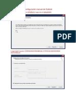 Configuración Manual de Outlook