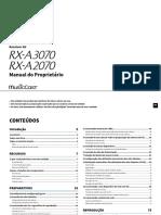 RX-A3070 RX-A2070 Manual Portuguese