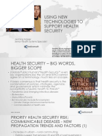 Using New Technologies to Support Health Security