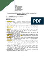 Calendario de Evaluaciones y Pautas Europa Contempor Nea Profesor G. Aranda