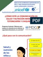 Conocimientos, actitudes y prácticas de la nutrición infantil en Totonicapán y 4 municipios de Chiquimula