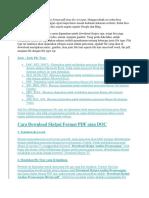 Begini Cara Download Skripsi Format PDF Atau Doc Tercepat