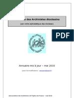 Annuaire Archivistes Diocesains (Mai 2010)