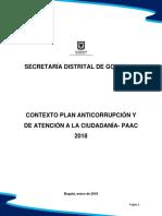 Contexto Plan Anticorrupcion y Atencion a La Ciudadania