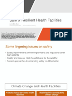 Safe and Resilient Health Facilities