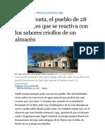 El Pueblo de 28 Habitantes Que Se Reactiva Con Los Sabores Criollos de Un Almacén
