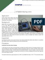 Ultrasonic Inspection of Babbitt Bearing Liners