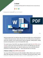 Word 2016 Cheat Sheet _ Computerworld