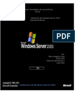 Instalacion de Windows Server