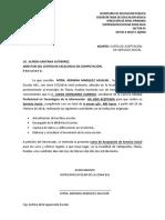 Carta Servicio Social Juanita