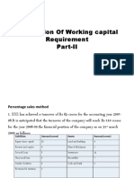 Determination of Working Capital Requirement