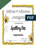 Spelling Bee Year 5