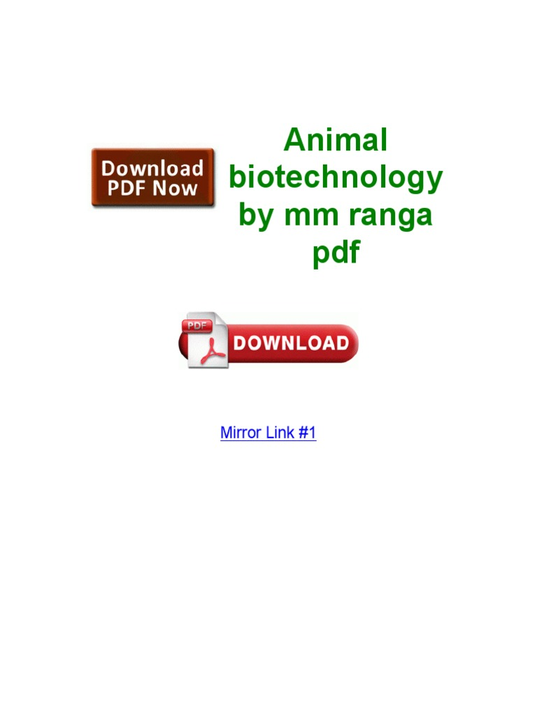 Pdf animal ranga biotechnology mm by