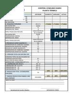 Control de Consumo Diario de Planta Termica