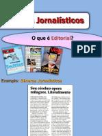 Gêneros Jornalísticos - Editorial