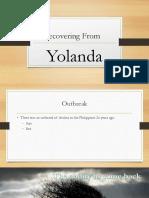 Recovering From Yolanda
