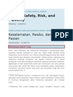 Patient Safety, Risk, And Quality