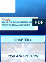 FIN3483_Chapter 2_Risk and Return