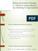 Explain How Rational Emotive Therapy Help Students