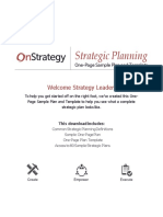 One Page plan example