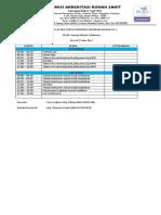 Jadwal Acara - Survei Verifikasi Progsus Ke 1 RSUD. Sayang Rakyat, Makassar
