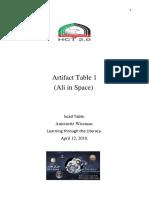 artifact table 1-semester 5