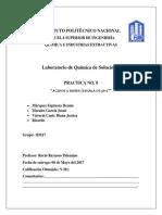 QUIMICA DE SOLUCIONES PRACTICA 8 PH ESIQIE
