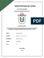 Informe de Obras de CONSTRUCCIONES I
