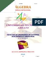 Algebra c3 Tecnicismo Algebraico