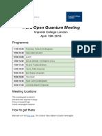 third open quantum meeting