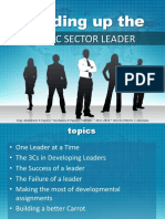 Building Up a Public Sector Leader