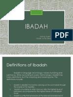 Ibadah - english