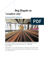Rebranding Baguio As