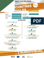 Inscription Rencontres  Régionales de l'Audiovisuel 2018
