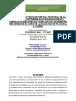 El Proceso de Preparacion Del Personal de La Universidad Autonoma de Chihuahua Para El Trabajo en Bibliotecas