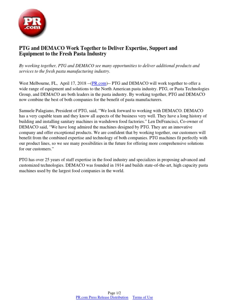 PTG and DEMACO Work Together to Deliver Expertise, Support and