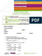 Formular Aplicatie LIDERSHIP 2017RO
