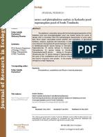 Hydrobiological parameters and phytoplankton analysis in Kadamba pond and Arumugamangalam pond of South Tamilnadu