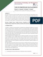 Research Paper - Risk & Return on Portfolio