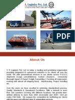 V R Logistics Company Profile