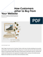 HBR - Research_ How Customers Decide Whether to Buy From Your Website