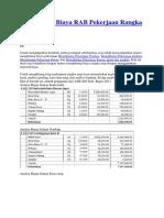 Menghitung Biaya RAB Pekerjaan Rangka Atap Kayu
