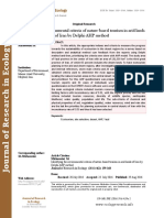 Identifying the environmental criteria of nature-based tourism in arid lands of Iran by Delphi-AHP method