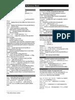UNIX Reference Sheet