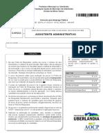 Aocp 2015 Fundasus Assistente Administrativo Prova