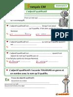 Grammaire 08 L Adjectif Qualificatif