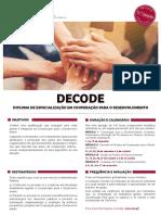 Flyer Decode 2017 11 Edicao 2017