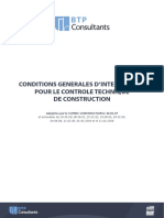 Conditions Génerale d'Intervention Pour Le Controleur Technique de Construction